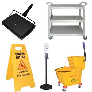 Utensilios y accesorios para area de servicio y limpieza